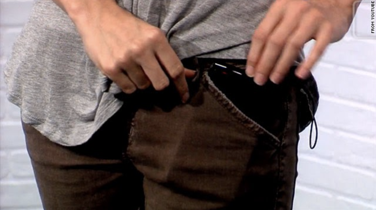 Phone fitting into pants